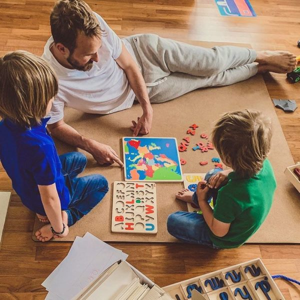 Mata korkowa dla dzieci do zabawy